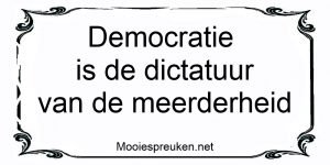 Democratie is de dictatuur van de meerderheid