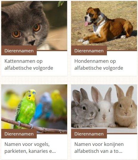 dierennamen